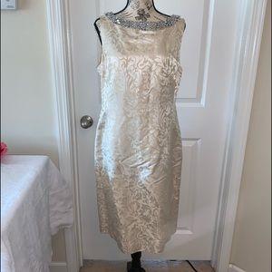 Silk Banana Republic dress with beading size 12